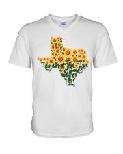 Texas Sunflower V-Neck T-Shirt tile
