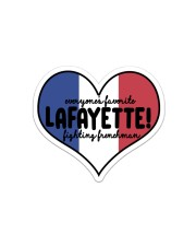 Lafayette Sticker - Single (Vertical) front