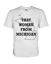That Woman From Michigan V-Neck T-Shirt tile