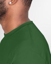 Calvinist Santa Classic T-Shirt garment-tshirt-unisex-detail-right-sewing-01