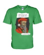 Calvinist Santa V-Neck T-Shirt thumbnail