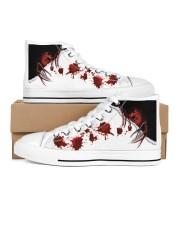 Freddy Blood Men's High Top White Shoes inside-left-outside-left