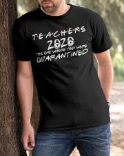 Teacher Quarantined Black Classic T-Shirt apparel-classic-tshirt-lifestyle-front-51