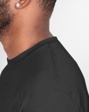 Teacher Quarantined Black Classic T-Shirt garment-tshirt-unisex-detail-right-sewing-01