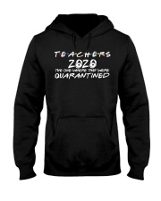 Teacher Quarantined Black Hooded Sweatshirt thumbnail