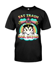 Eat Trash Hail Satan Classic T-Shirt front