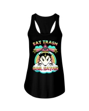Eat Trash Hail Satan Ladies Flowy Tank thumbnail