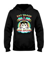 Eat Trash Hail Satan Hooded Sweatshirt tile