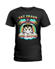 Eat Trash Hail Satan Ladies T-Shirt tile