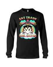 Eat Trash Hail Satan Long Sleeve Tee tile