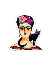 Women and Cat Sticker - Single (Vertical) front