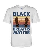 Black Breaths Matter V-Neck T-Shirt tile