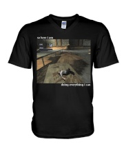 Doing Everything I Can V-Neck T-Shirt thumbnail