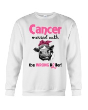 Cancer Messed With Wrong Heifer Crewneck Sweatshirt thumbnail