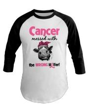 Cancer Messed With Wrong Heifer Baseball Tee tile