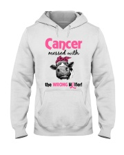 Cancer Messed With Wrong Heifer Hooded Sweatshirt thumbnail