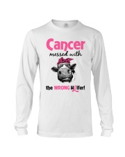 Cancer Messed With Wrong Heifer Long Sleeve Tee thumbnail
