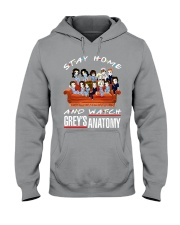 Stay Home And Watch Grey's Anatomy Hooded Sweatshirt thumbnail