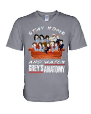Stay Home And Watch Grey's Anatomy V-Neck T-Shirt thumbnail