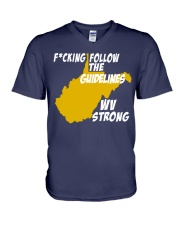 Follow The Guidelines WV Strong V-Neck T-Shirt thumbnail