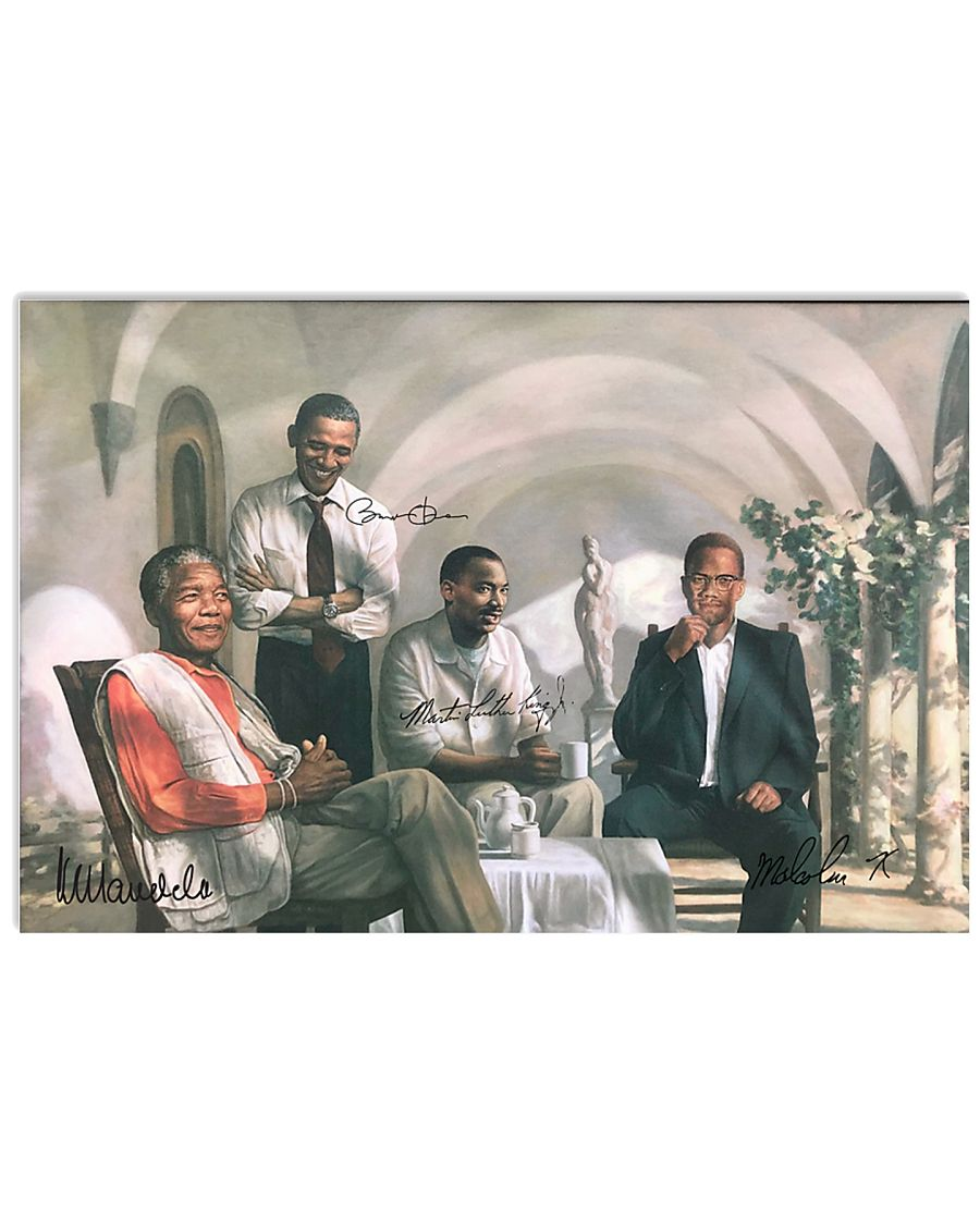 Four Black Man Poster 17x11 Poster