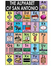 Alphabet of San Antonio Poster Vertical Poster tile