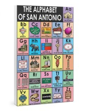 Alphabet of San Antonio Poster 24x36 Gallery Wrapped Canvas Prints thumbnail