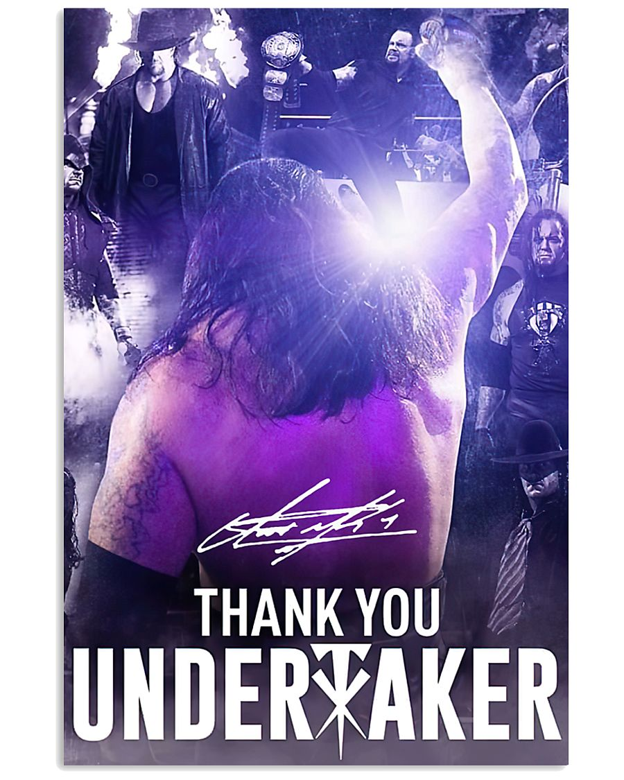 Thank You Under Taker Poster 11x17 Poster