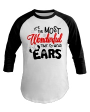 Time To Wear Ears Baseball Tee front