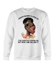 Black Girl Loves Books Crewneck Sweatshirt tile