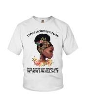 Black Girl Loves Books Youth T-Shirt tile
