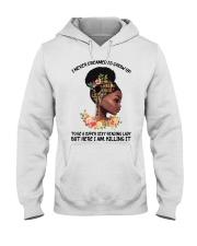 Black Girl Loves Books Hooded Sweatshirt tile