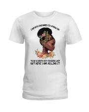 Black Girl Loves Books Ladies T-Shirt front