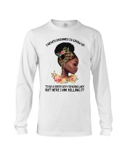 Black Girl Loves Books Long Sleeve Tee tile