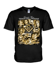 Prince Hall Masons V-Neck T-Shirt thumbnail