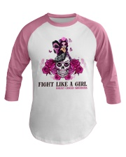 Fight Like A Girl Baseball Tee front