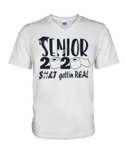 Senior 2020 Getting Real V-Neck T-Shirt thumbnail