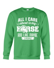 All I Care About Is My Horse Crewneck Sweatshirt thumbnail