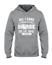 All I Care About Is My Horse Hooded Sweatshirt thumbnail
