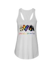 Peace Love Mom Hugs Ladies Flowy Tank tile