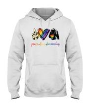 Peace Love Mom Hugs Hooded Sweatshirt tile