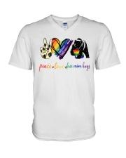 Peace Love Mom Hugs V-Neck T-Shirt tile