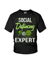 Social Distancing Expert Girl Youth T-Shirt tile