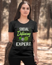 Social Distancing Expert Girl Ladies T-Shirt apparel-ladies-t-shirt-lifestyle-05