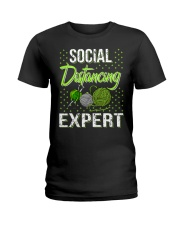 Social Distancing Expert Girl Ladies T-Shirt front