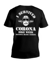 Survived Covid Bike Week V-Neck T-Shirt thumbnail