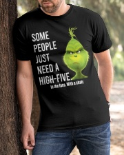 High Five Grinch Classic T-Shirt apparel-classic-tshirt-lifestyle-front-51