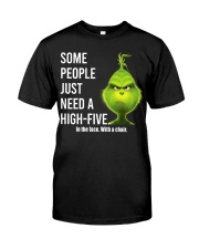 High Five Grinch Classic T-Shirt front