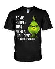 High Five Grinch V-Neck T-Shirt tile