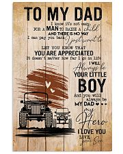 To My Dad Poster 11x17 Poster front